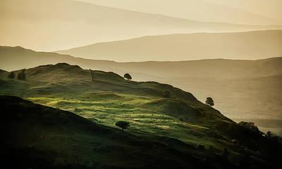 Hills Of Lake District In The Uk Print by Jaroslaw Blaminsky