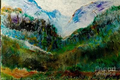 Painting - Hills Of North East India by Subrata Bose