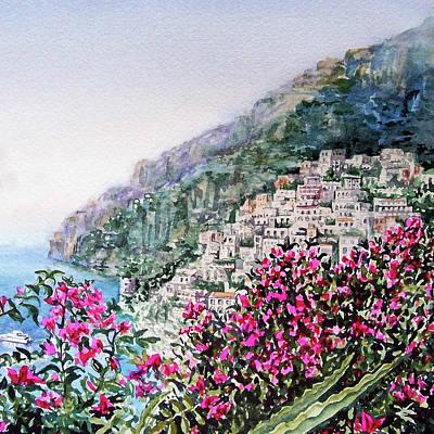 Painting - Hills Of Positano Amalfi Coast Italy by Irina Sztukowski