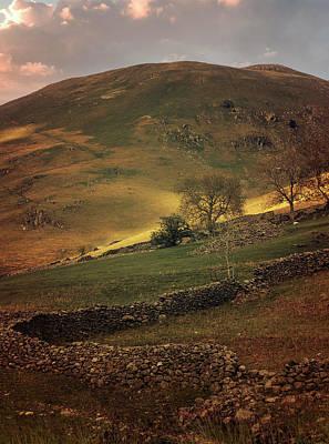 Hills Of Scotland At The Sunset Art Print by Jaroslaw Blaminsky