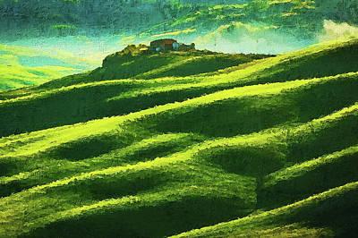 Painting - Hills Of Tuscany - 01  by Andrea Mazzocchetti