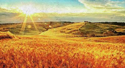 Painting - Hills Of Tuscany - 02 by Andrea Mazzocchetti