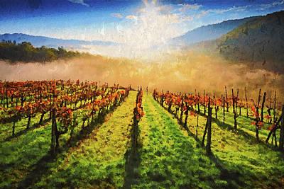 Painting - Hills Of Tuscany - 04 by Andrea Mazzocchetti