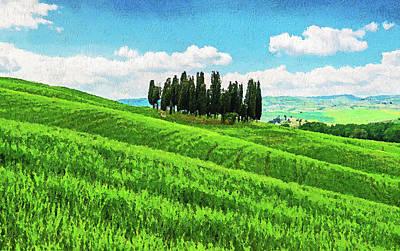 Painting - Hills Of Tuscany - 05 by Andrea Mazzocchetti