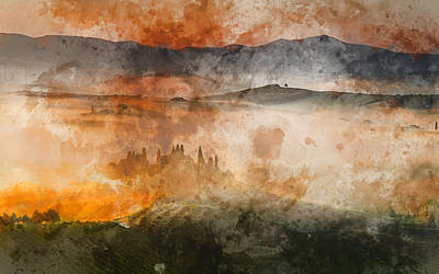 Painting - Hills Of Tuscany - 06 by Andrea Mazzocchetti