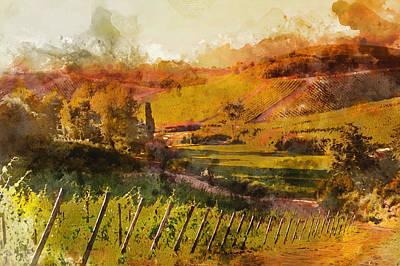Painting - Hills Of Tuscany - 08 by Andrea Mazzocchetti