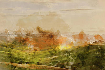 Painting - Hills Of Tuscany - 09 by Andrea Mazzocchetti