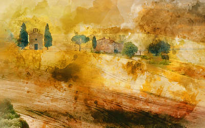 Painting - Hills Of Tuscany - 10 by Andrea Mazzocchetti