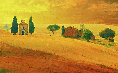 Painting - Hills Of Tuscany - 11 by Andrea Mazzocchetti