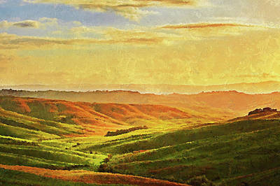 Painting - Hills Of Tuscany - 12 by Andrea Mazzocchetti