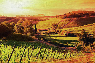 Painting - Hills Of Tuscany - 13 by Andrea Mazzocchetti