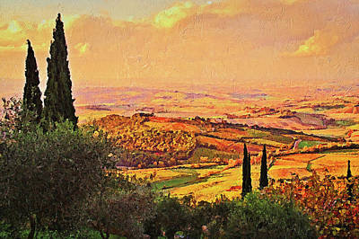 Painting - Hills Of Tuscany - 14 by Andrea Mazzocchetti