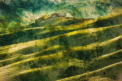 Painting - Hills Of Tuscany - 15 by Andrea Mazzocchetti