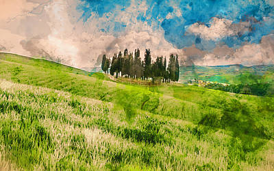 Painting - Hills Of Tuscany - 19 by Andrea Mazzocchetti