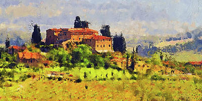 Painting - Hills Of Tuscany - 20 by Andrea Mazzocchetti