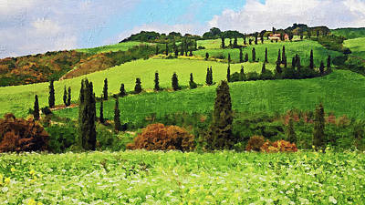 Painting - Hills Of Tuscany - 21 by Andrea Mazzocchetti