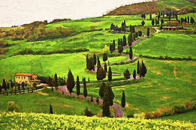 Painting - Hills Of Tuscany - 22 by Andrea Mazzocchetti