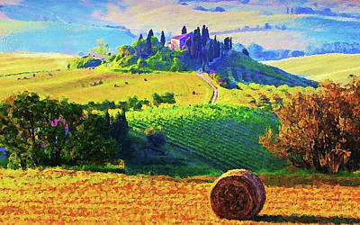 Painting - Hills Of Tuscany - 23 by Andrea Mazzocchetti