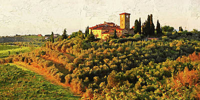 Painting - Hills Of Tuscany - 24 by Andrea Mazzocchetti