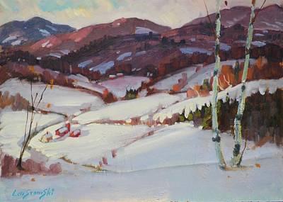 Hills Of Vermont Original by Len Stomski