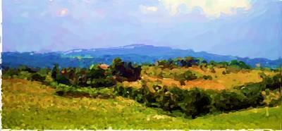 Hills Tuscany Art Print by Asbjorn Lonvig