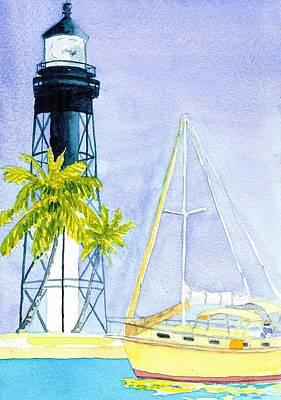 Hillsboro Inlet Art Print by Anne Marie Brown