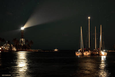 Keys Photograph - Hillsboro Inlet Lighthouse And Sailboats by Ken Figurski