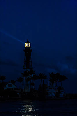 Photograph - Hillsboro Light After Sundown by Ed Gleichman