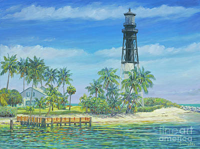 Historic Lighthouses Painting - Hillsboro Lighthouse by Danielle Perry