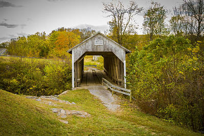 Photograph - Hillsboro Or Grange City Covered Bridge by Jack R Perry