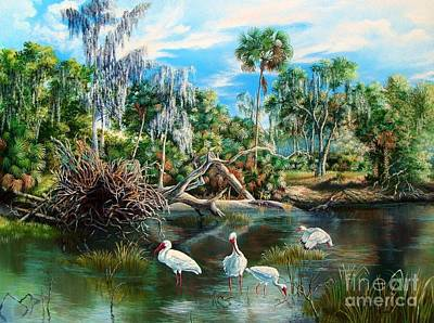 Wading River Painting - Hillsborough River- Lunch Time by Daniel Butler