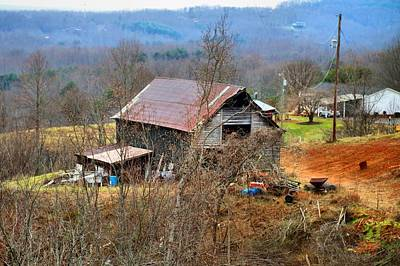 Photograph - Hillside Barn by Kathryn Meyer