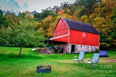 Pop Art - Hillside Barn by Lowell Stevens