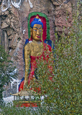 Photograph - Hillside Buddha by Alan Toepfer