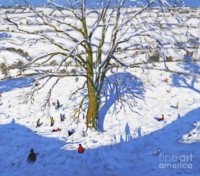Hillside, Elton, Near Rowsley, Chatsworth, Derbyshire  Art Print