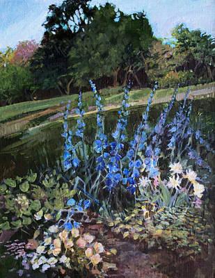 Hillside Garden Art Print by Diane Ursin
