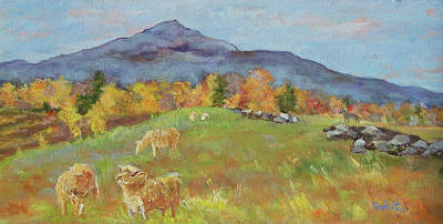 Mt. Monadnock Painting - Hillside Grazing by Alicia Drakiotes