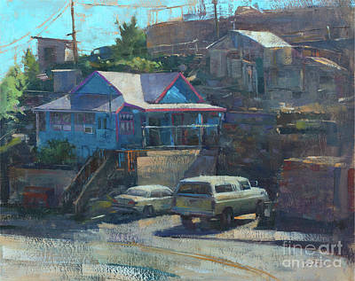 Wall Art - Painting - Hillside History, Jerome by Patrick Saunders