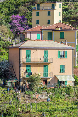 Photograph - Hillside Home Cinque Terre Italy  by John McGraw