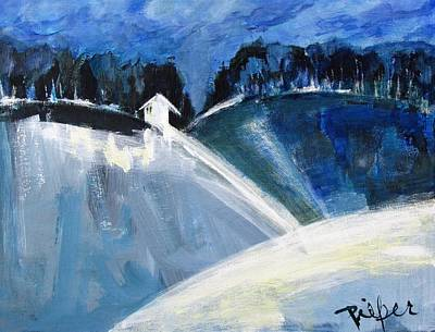 Painting - Hillside In Winter by Betty Pieper