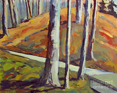 Hillside Light And Darks Art Print by Charlie Spear