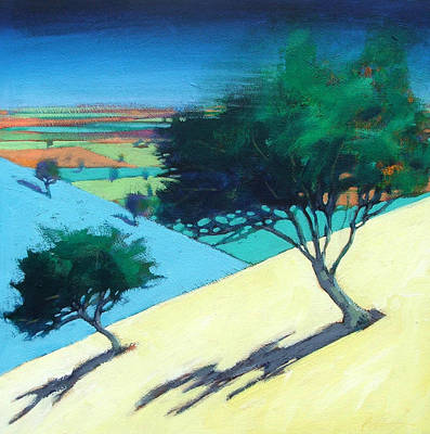 Vivid Colour Painting - Hillside by Paul Powis