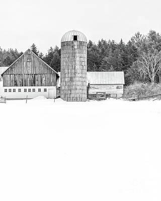 Photograph - Hillside Road Barn And Silo by Edward Fielding