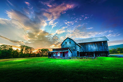 Amish Photograph - Hillside Sunset by Marvin Spates