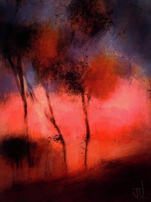 Digital Art - Hillside Trees by Jim Vance