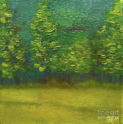 Painting - The Lakeside  by Wonju Hulse