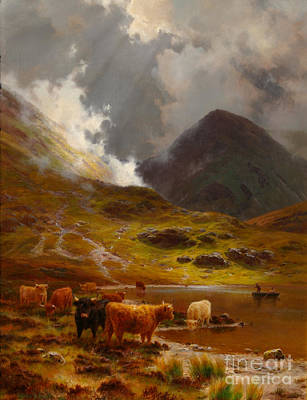 Yak Painting - Hillsides  by MotionAge Designs