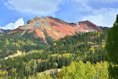Photograph - Hillsides Of Fall Color At Red Mountain by Ray Mathis