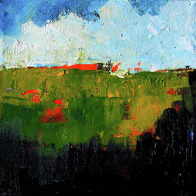 Painting - Hilltop Abstract Landscape by Nancy Merkle