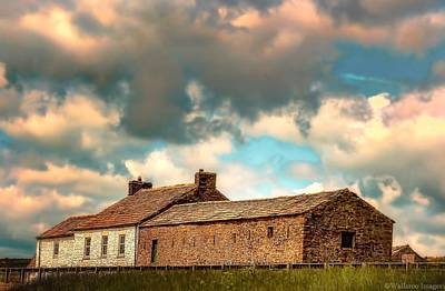 Photograph - Hilltop Farm In Cumbria by Wallaroo Images